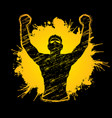 freedom man the winner graphic vector image