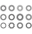 Set template in the form of a nice circle vector image
