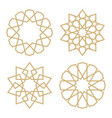 a set of stars in the arab style vector image