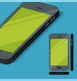 flat style mobile phone concept vector image