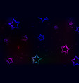 multicolored stars on a dark background vector image