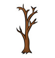bare tree cartoon design isolated on white vector image vector image