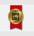 best sale badge with ribbon and transparent vector image