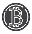 bitcoin coin glyph icon business and finance vector image vector image