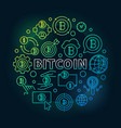 bitcoin round colorful round vector image vector image