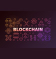 blockchain colorful outline or vector image vector image