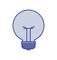 blue silhouette of small light bulb vector image