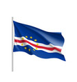 cape verde realistic flag vector image vector image