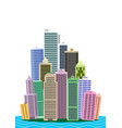 cartoon picture of manhattan vector image vector image