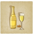 champagne old background vector image vector image