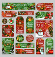 christmas sale tag and winter holidays gift label vector image vector image