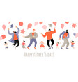 congratulatory banner for fathers day vector image vector image