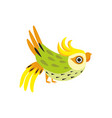 corella parrot tropical bird with colored vector image vector image