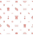 ecology icons pattern seamless white background vector image vector image