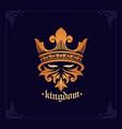 emblem helmet spartan knight kingdom vector image