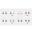 emotions blue eyes anime manga girls vector image vector image