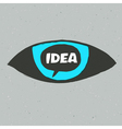 eye idea poster vector image vector image
