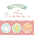 first communion vector image vector image
