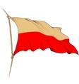 flag poland vector image vector image