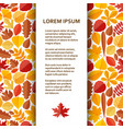 flat poster or banner template with autumn leaves vector image vector image