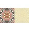 Flyer blank Abstract Retro Ornate Mandala vector image vector image