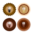 Four Type of Iced Coffee on Retro Round Label vector image