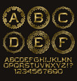 golden angular monogram kit gold letters and vector image vector image