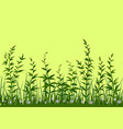 grass and flowers seamless vector image