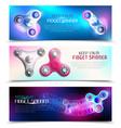 hand spinner toys horizontal banner set vector image