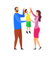 happy parents with child flat vector image vector image