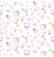 household line icon seamless pattern vector image vector image