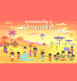 international day of african child big banner vector image vector image