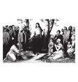 jesus preaching consider lilies field vector image vector image