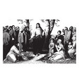 jesus preaching consider the lilies of the field vector image vector image