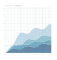 line chart diagram vector image
