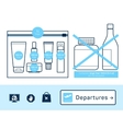 liquids in carry-on baggage vector image vector image