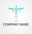 Logo flying man vector image vector image