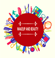 make up and beauty beauty cosmetic vector image vector image
