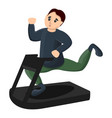 man at treadmill icon cartoon style vector image vector image