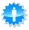 Man blue icon vector image vector image