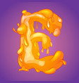 melted slicky letter e vector image