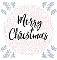 merry christmas christmas greeting card with vector image vector image