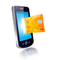 mobile and credit card vector image