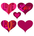 mod valentines day hearts vector image vector image