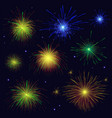 multicolored sparkling blue golden green red vector image vector image