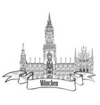 munich famous city palace with tower rathause vector image vector image