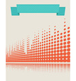 musical background retro vector image vector image