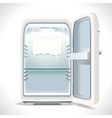 old opened refrigerator vector image
