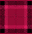 pink and black tartan plaid seamless pattern vector image vector image