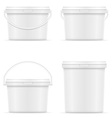 plastic bucket for paint 08 vector image vector image